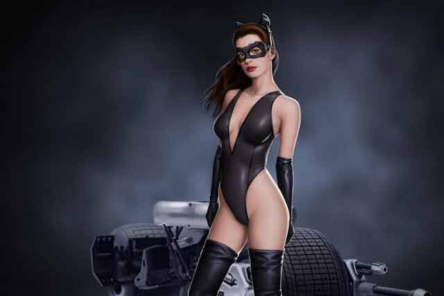 Batman-The-Dark-Knight-Catwoman-Hot-Anne-Hathaway-in-bikini-outfit-showing-her-sexy-curves-in-Poster