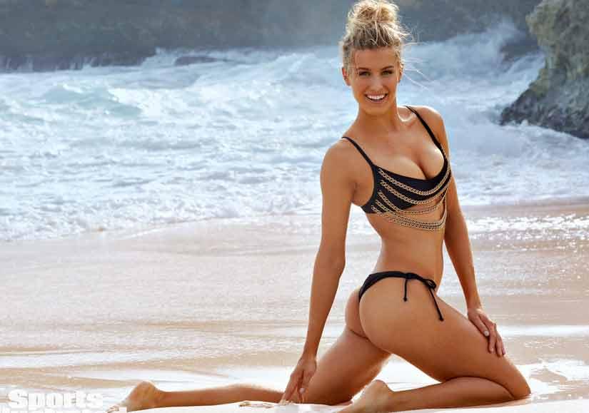 Eugenie-Bouchard-images-in-black-bikini-showing-bare-butt