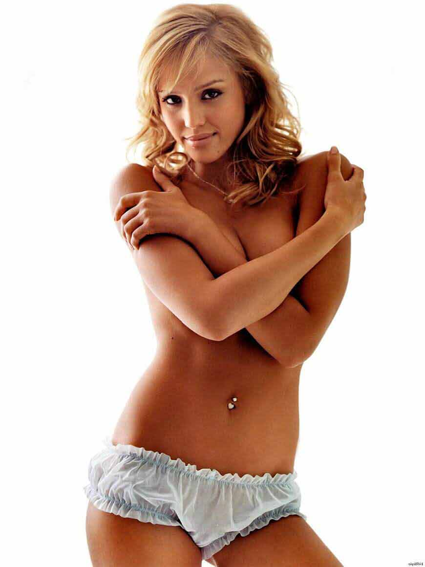 Jessica-Alba-Sexy-Topless-Hot-Actress-wall-print-poster