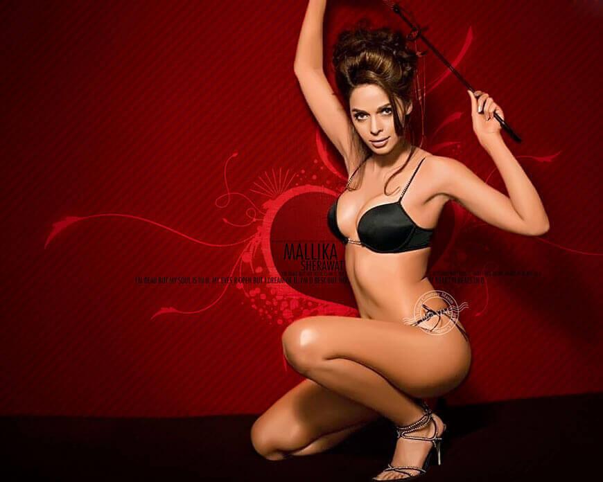 mallika sherawat bikini wallpapers displaying her sizzling body