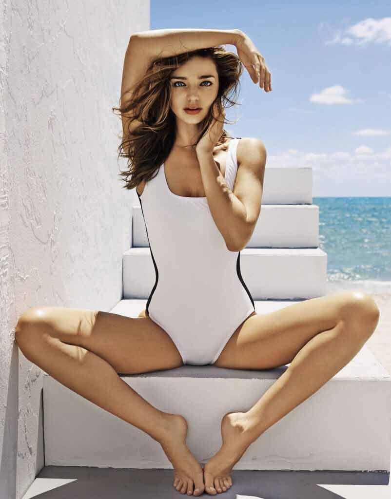 miranda kerr monokini bikini pics display her wide legs
