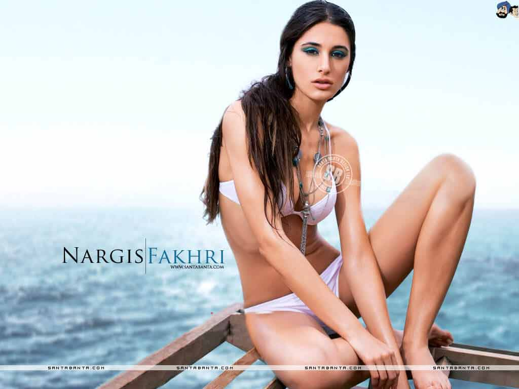 Damn Hot Pink Bikini Images of Nargis Fakhri