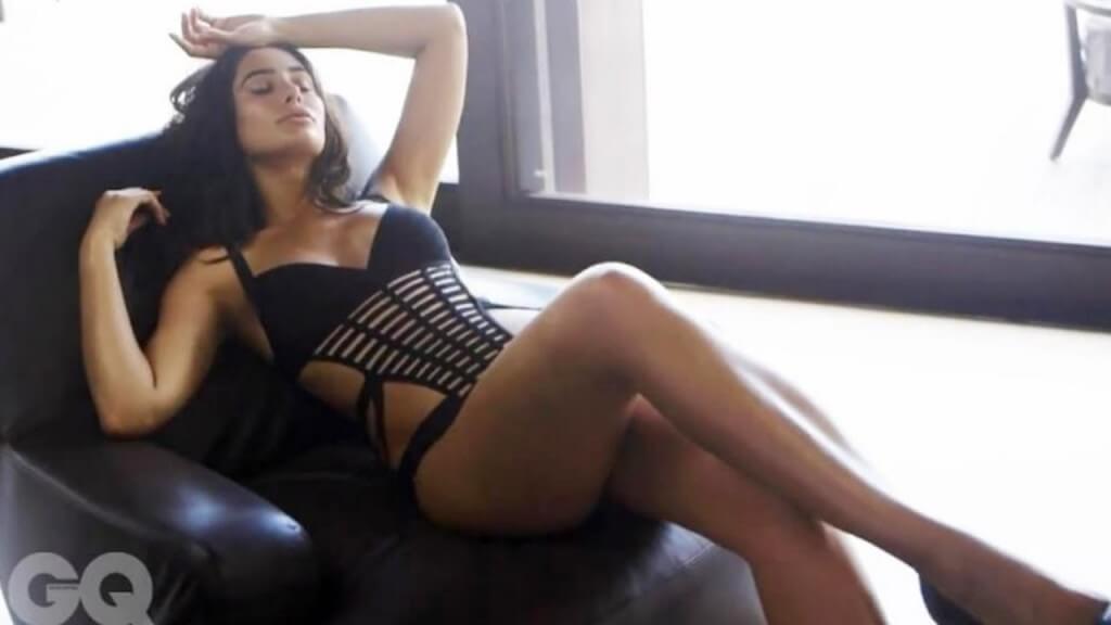 Hot bollywood actress Nargis Fakhri bikini photoshoot for GQ Magazine