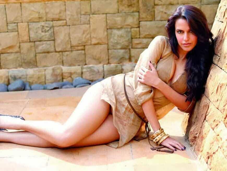 Neha-Dhupia-Maxim-Photos-hot-cleavage-and-sexy-long-legs