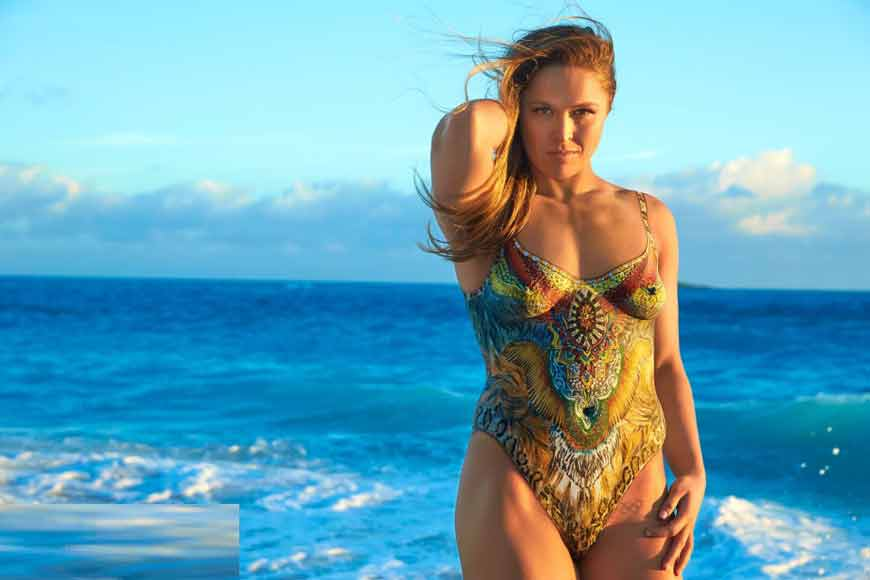 wwe diva ronda rousey nude images covering with paint