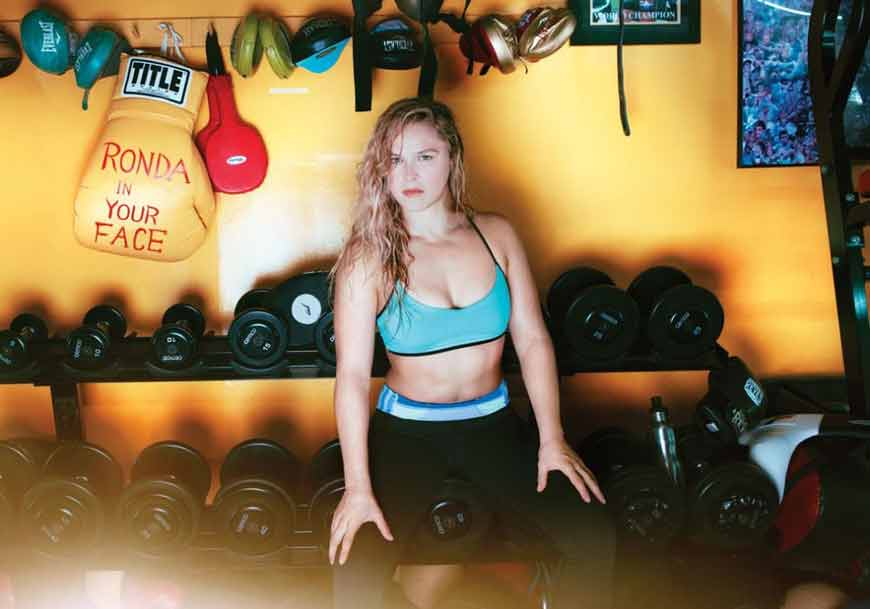 hot ronda rousey bikini images in gym