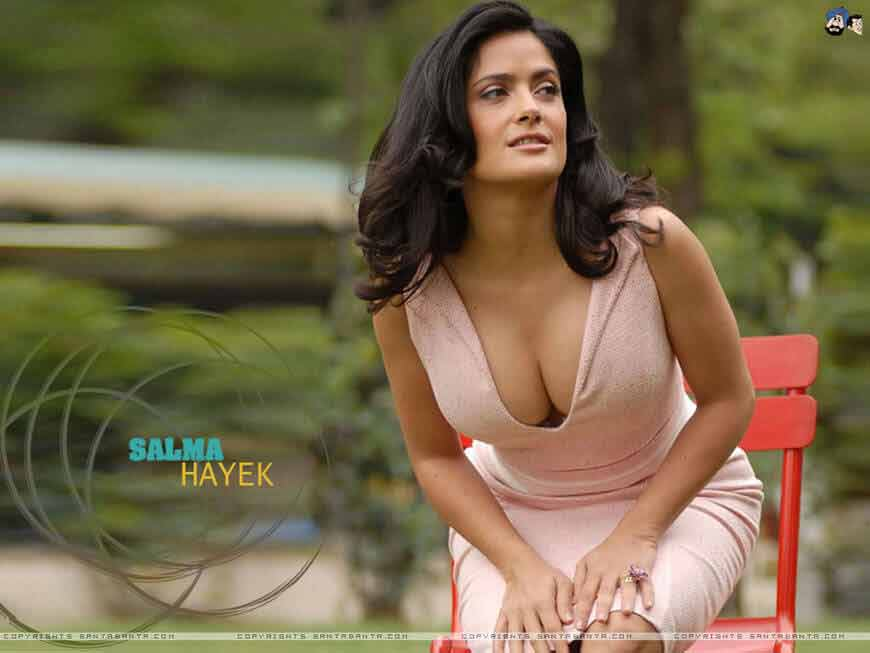 hot cleavage photos of salma hayek