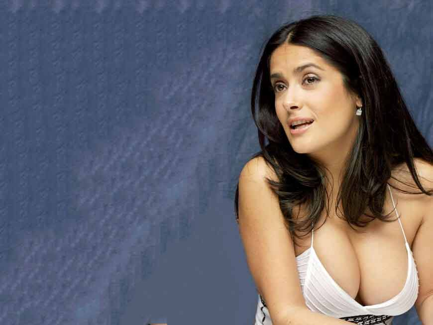 huge cleavage images of salma hayek