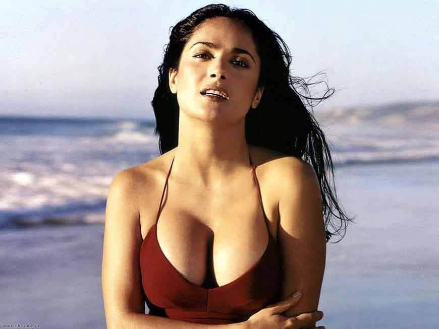 Salma hayek deep cleavage images