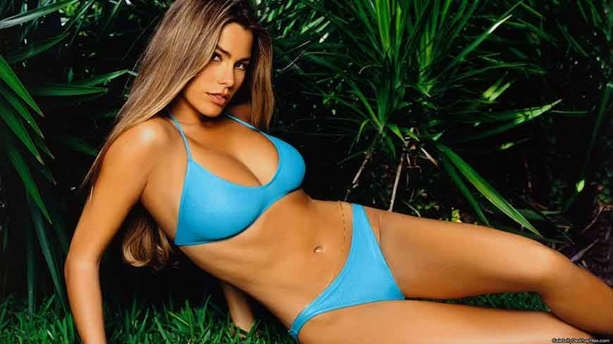Sofia Vergara bikini pictures displaying her sizzling hot figure