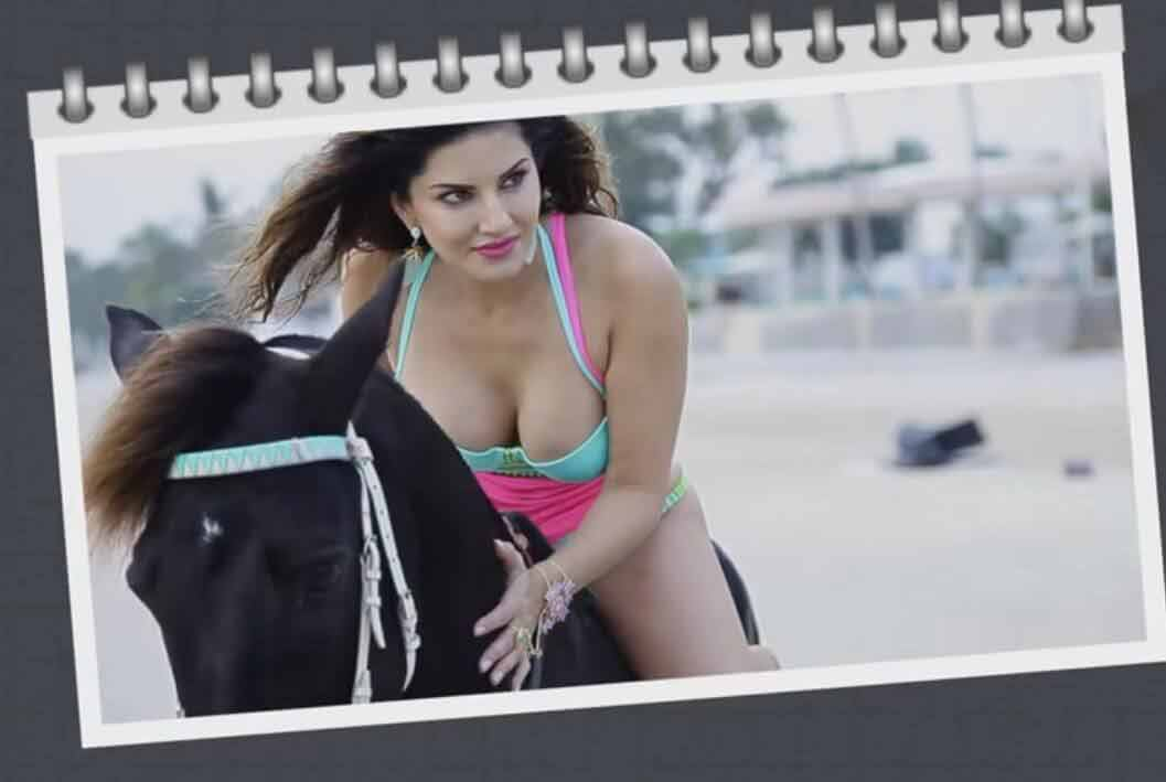 Actress-Sunny-Leone-Hot-Deep-Cleavage-Manforce-Photoshoot