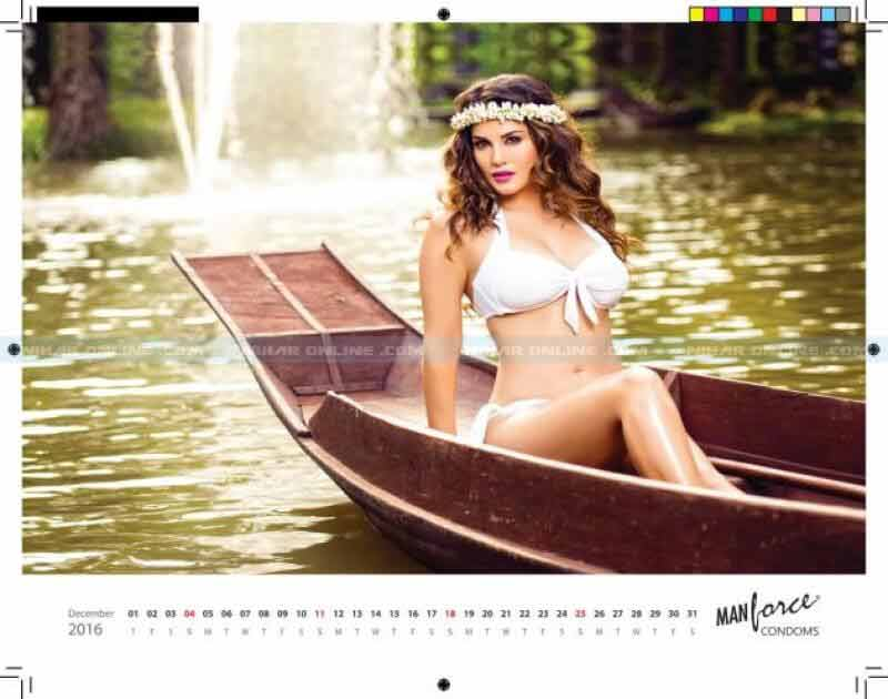 Sunny Leone Bikini pictures from manforce calender photoshoot