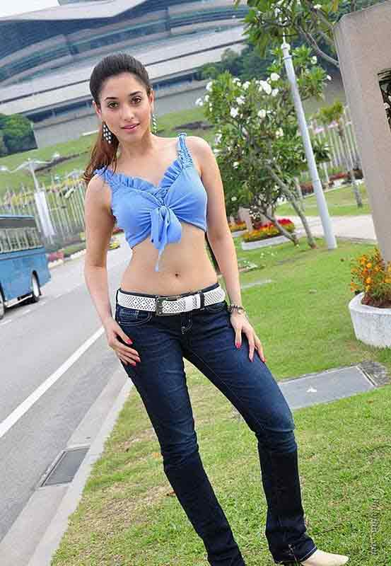 tamanna bhatia hot body pics in tight denim jeans