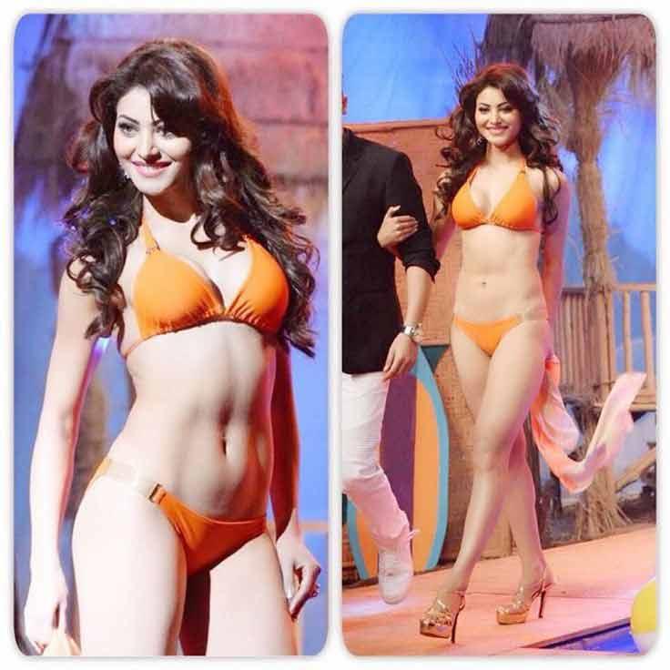 damn hot orange bikini images of urvashi rautela