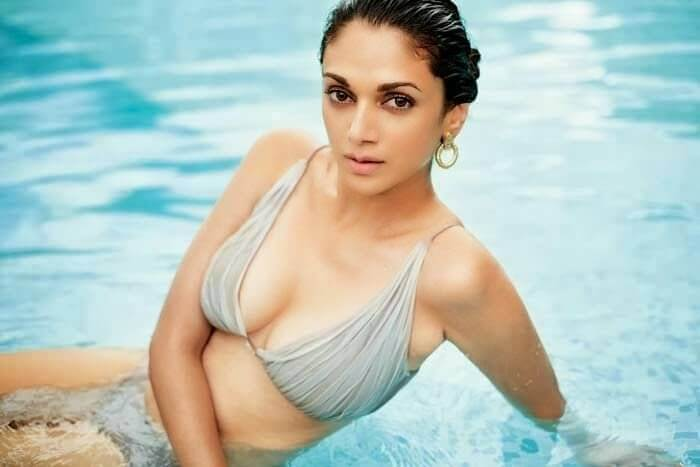 aditi rao hydari bikini photos in pool