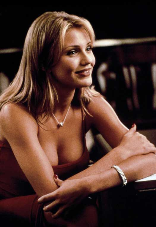 cameron diaz cleavage photos in hot red dress