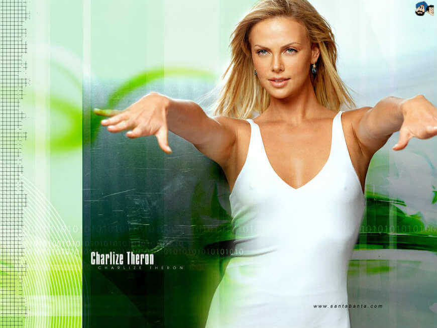 United States of America Charlize Theron Hd Wallpapers in White short dress