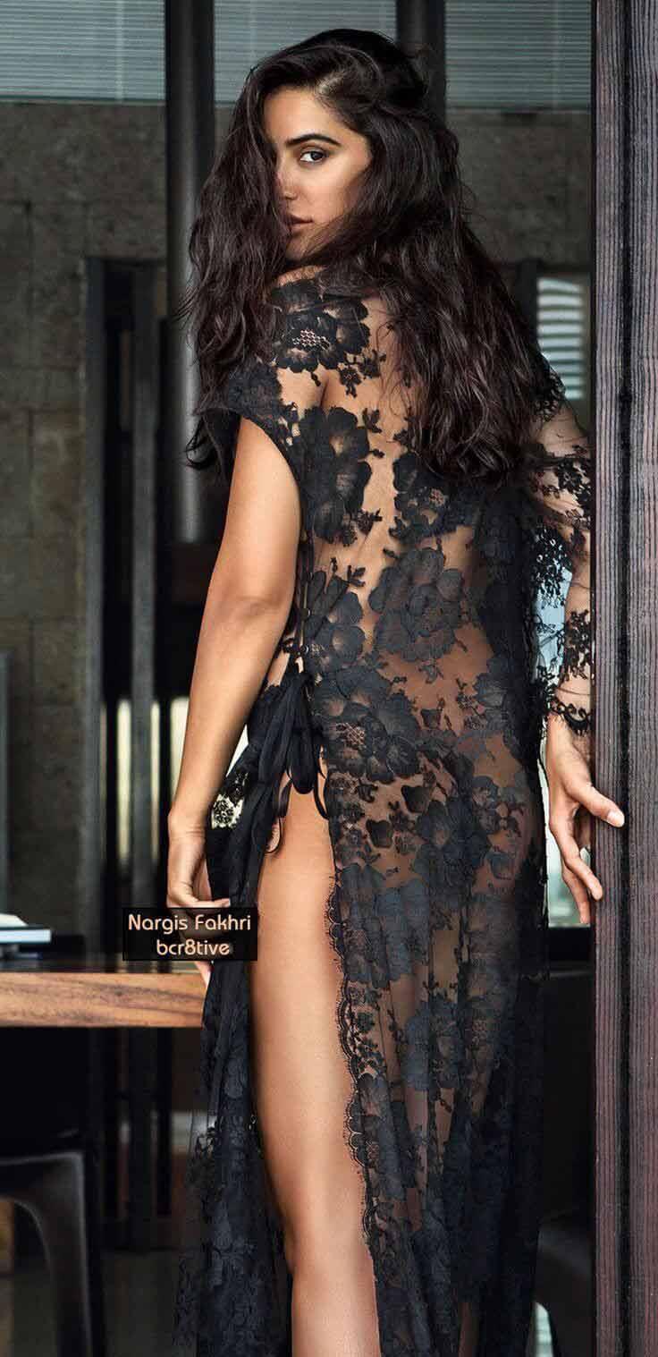 actress nargis fakhri near nude photos in transparent dress showing sexy ass
