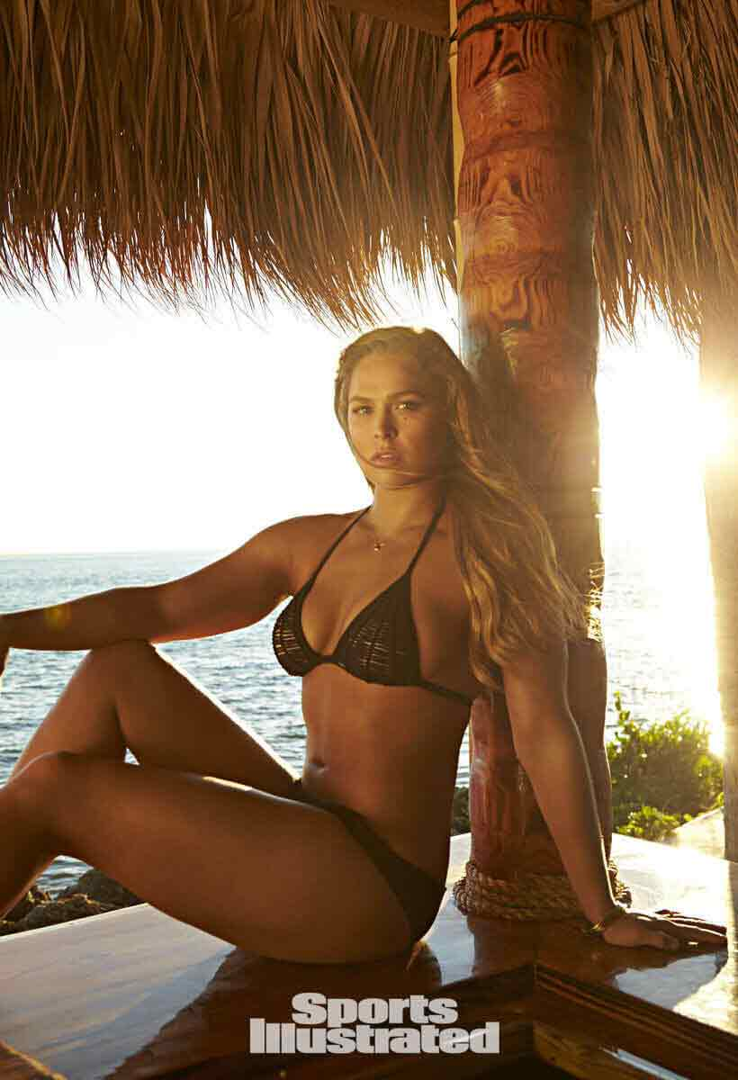 ronda rousey sexy butt and boobs images in bikini