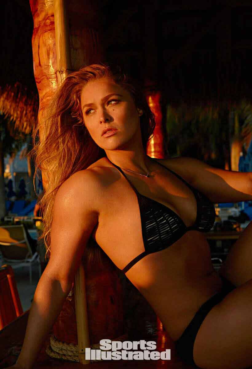 ronda rousey sizzles in bikini