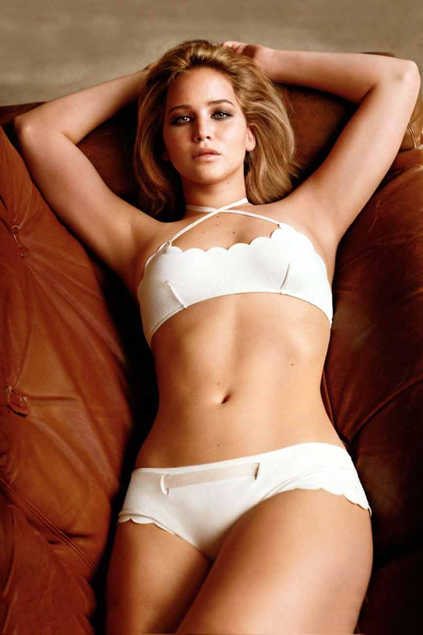 hot-jennifer-lawrence-photos-in-white-baithing-suit-ling-on-couch