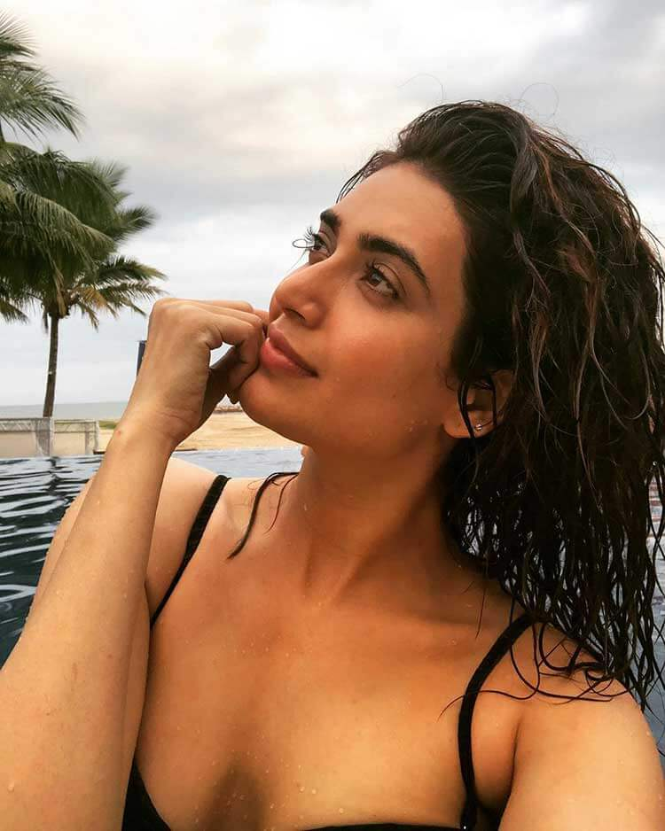 Karishma Tanna Taking Her Bikini Selfie in Pool