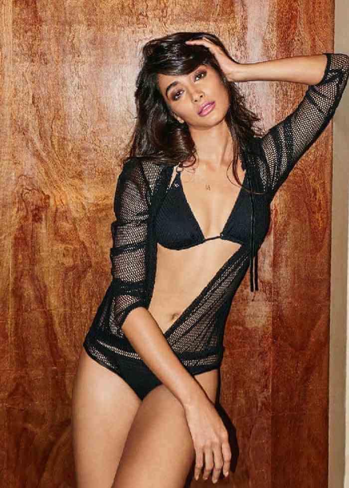 tollywood actress pooja hegde black bikini stills