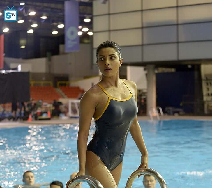 priyanka chopra toned body in monokini bikini