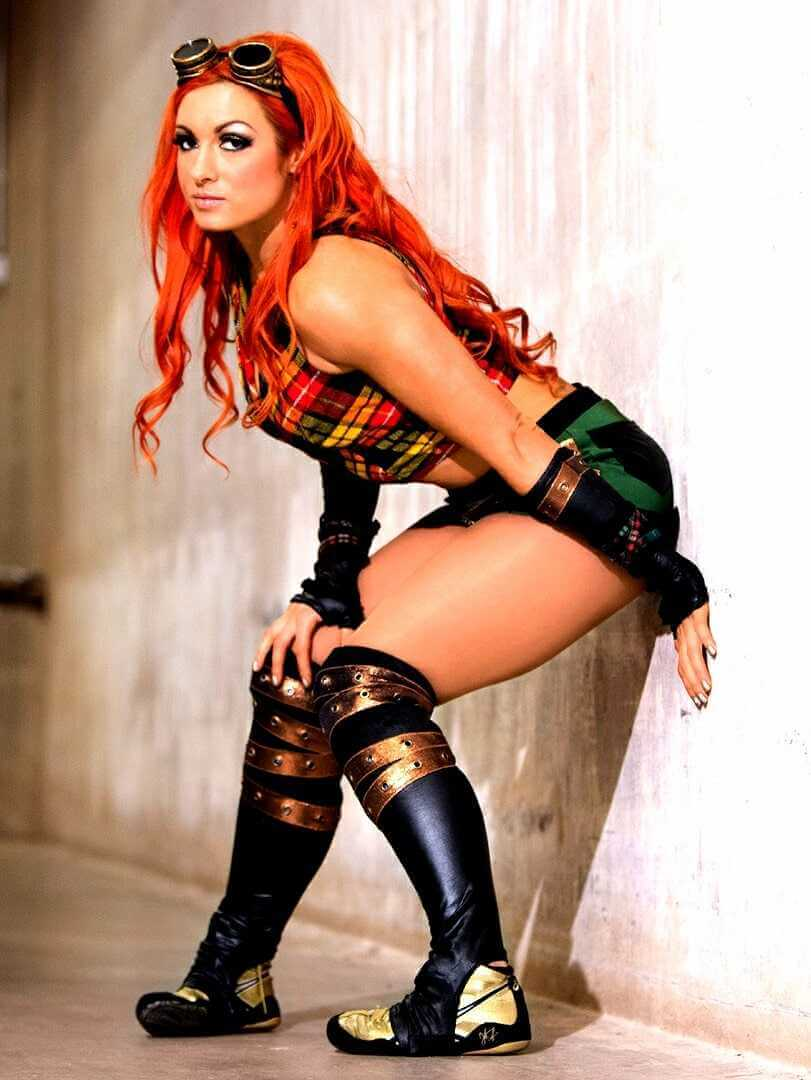 Becky-Lynch-Hot-Photoshoot-in-sexy-tight-black-shorts