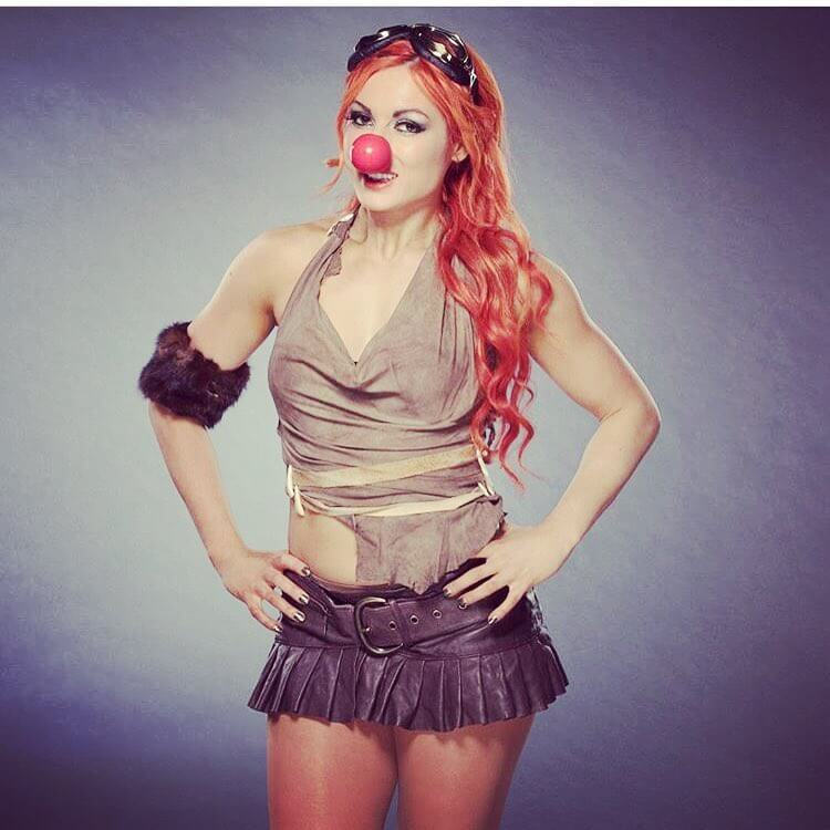 Becky-Lynch-Joker-style-short-skirts-and-long-legs