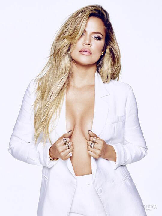 Khloe-Kardashian-Hot-Photoshoot-showing-her-sideboobs-in-thong