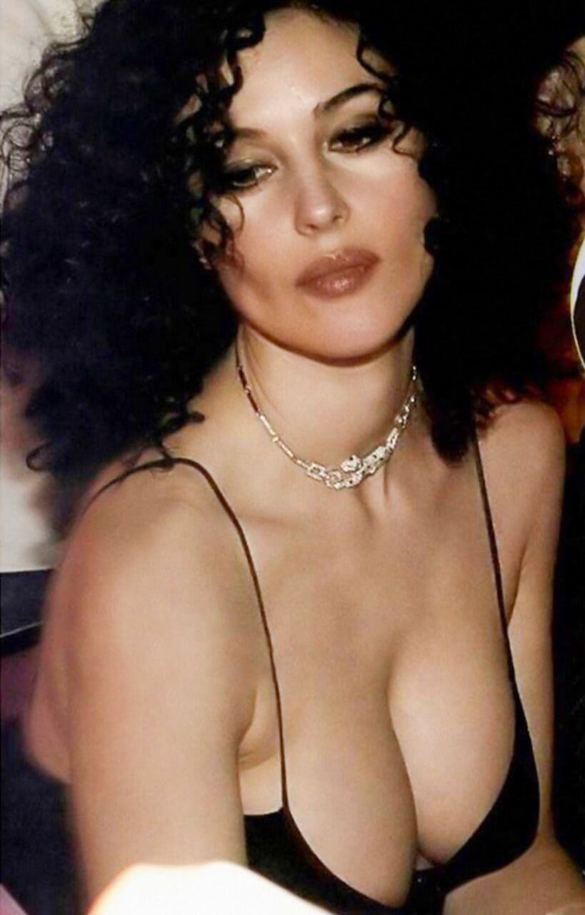 Young-monica-belluci-huge-cleavage-photos-collection