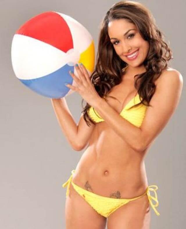 curvy-body-brie-bella-yellow-bikini-stills