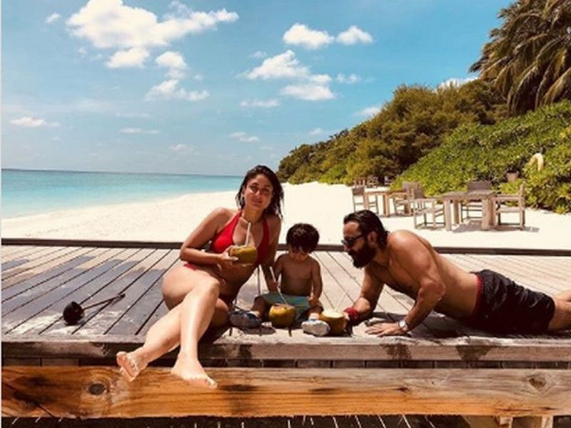 hot-kareena-kapoor-bikini-images-with-saif-and-son-on-vacation