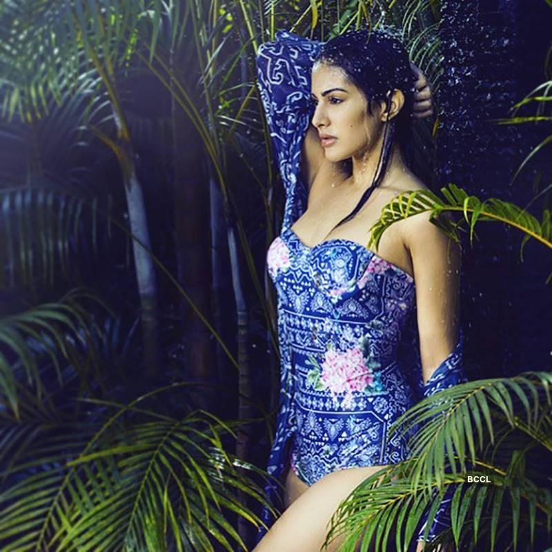 amyra-dastur-wet-bikini-photoshoot