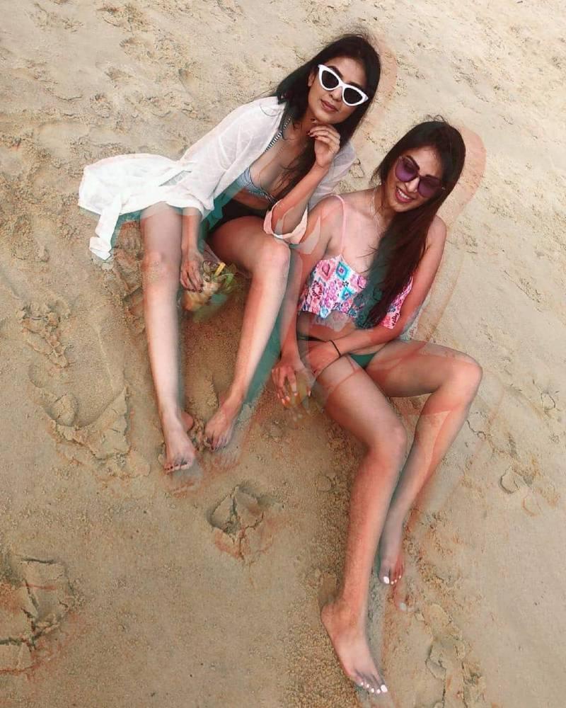 anushka-ranjan-in-bikini-having-fun-on-beach