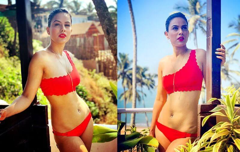 bold-tv-actress-nia-sharma-red-bikini-images