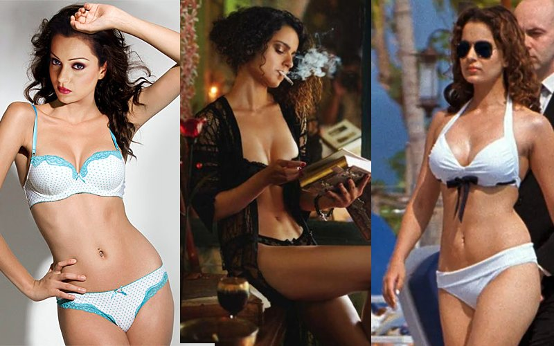 Bold-and-hot-actress-kangana-ranaut-bikini-pictures-photos