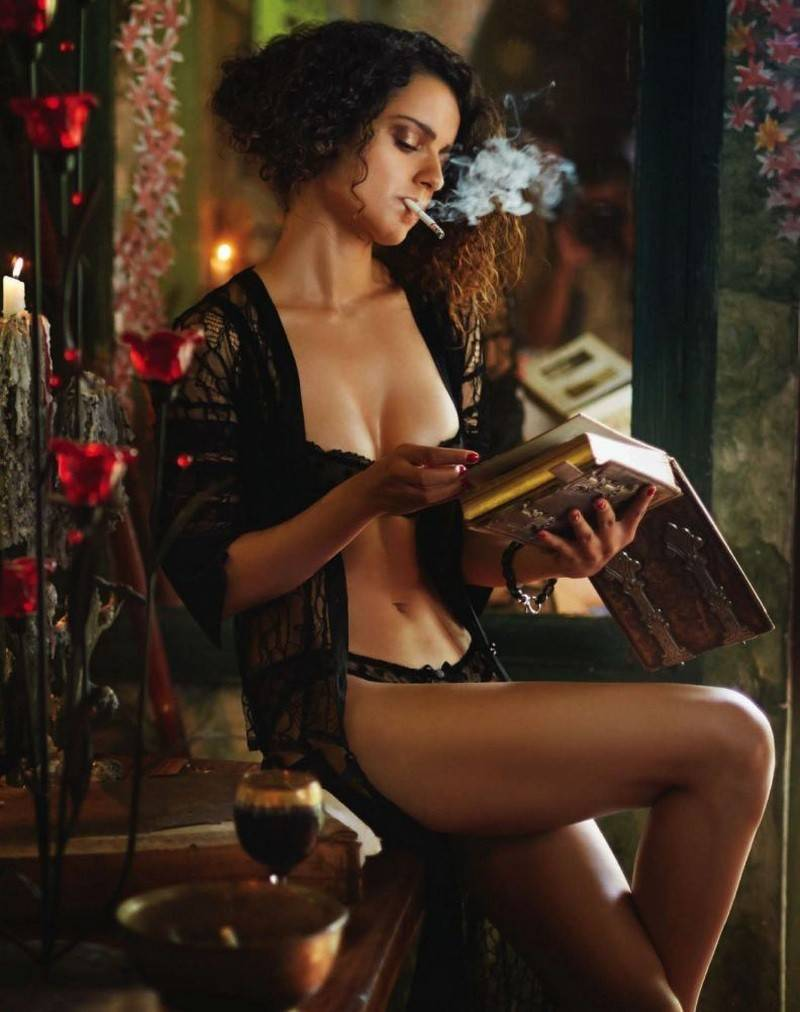Kangana-Ranaut-bikini-lingerie-photos-exposing-her-hot-ass-in-GQ-India