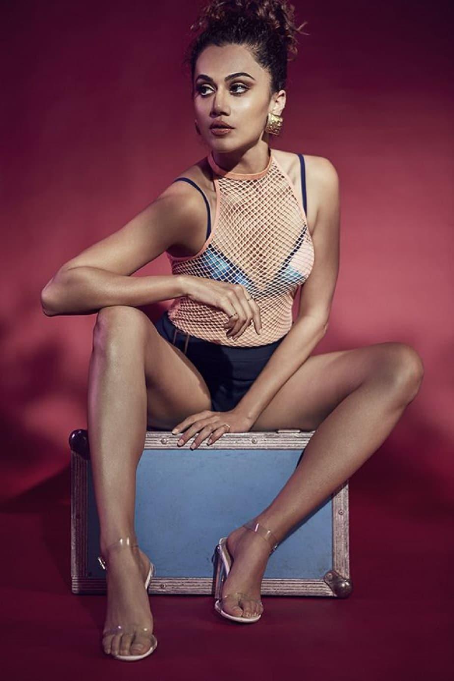 bollywood-actress-taapsee-pannu-bikini-photoshoot-showing-deep-cleavage