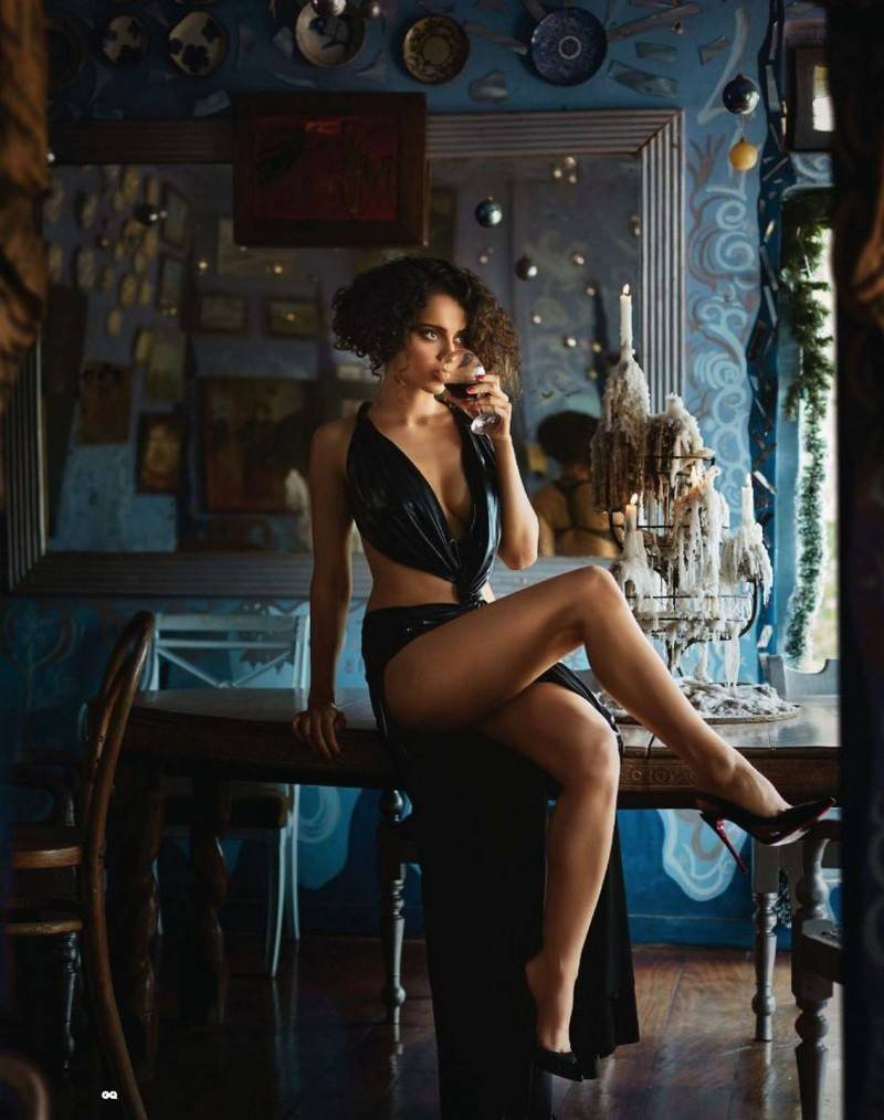 hot-bollywood-actress-Kangana-Ranaut-bikini-pics-shows-off-her-zero-size-figure-GQ-India