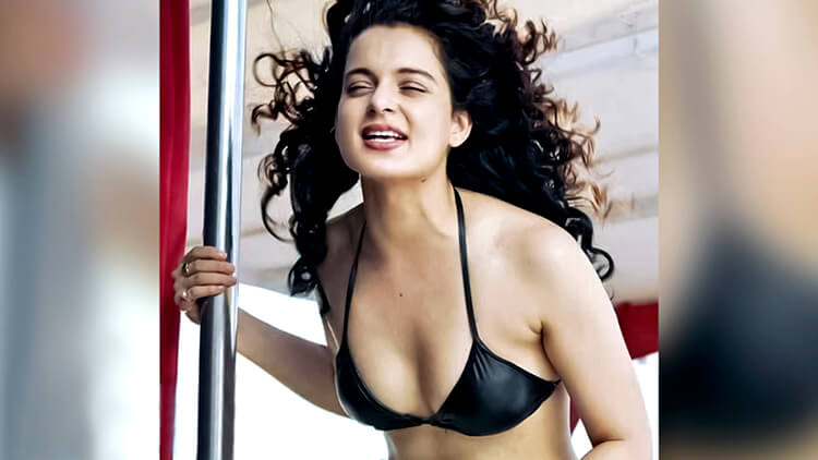 kangana-ranaut-cleavage-in-hot-black-bikini